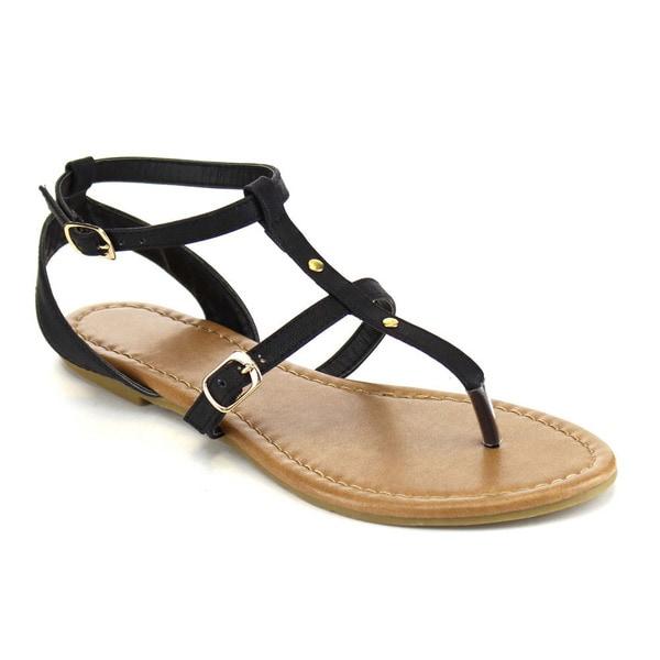 Beston Thong Studded Flat Sandals