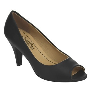 Beston Classic Peep Toe Slip On Pumps