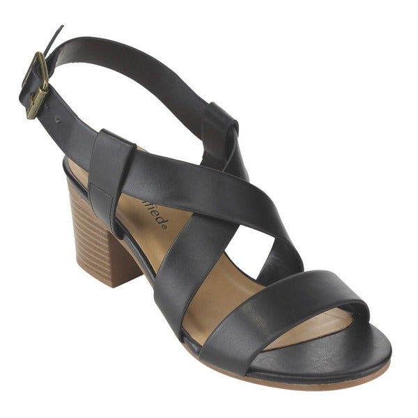 Beston Stacked Heel Sandals