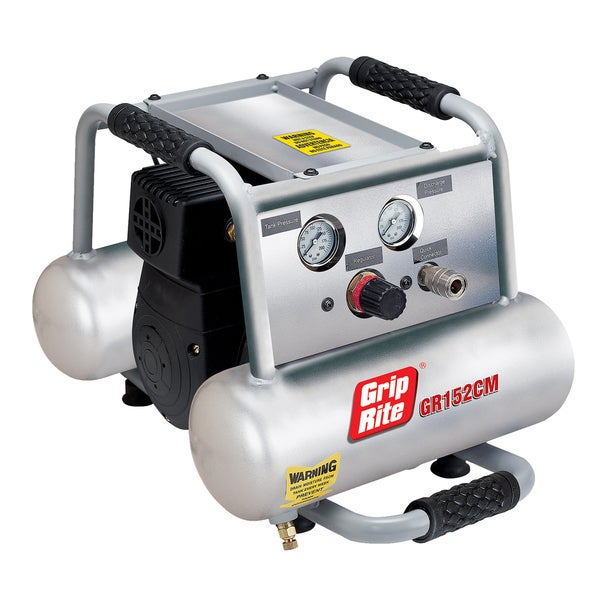 Grip Rite GR152CM 1.5HP 2 Gallon Twin Tank Compressor