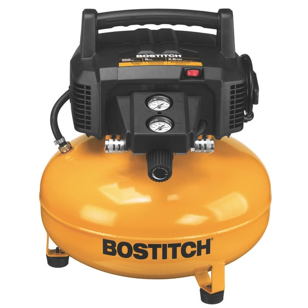 Bostitch Stanley BTFP02012 6 Gallon Pancake Compressor