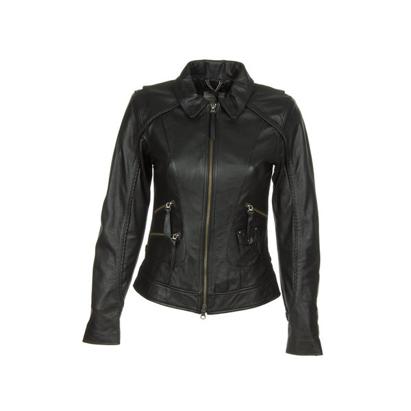 Harley-Davidson 98064-13VW Womens Heritage Black Leather Jacket