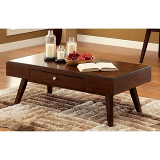 Furniture of America Baine Mid-century Brown Cherry Coffee Table