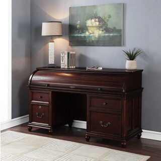 Denver Peaks Brown Wood Smart Top Credenza with Pullout Work Area