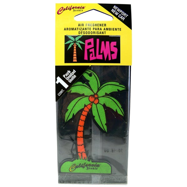 California Scents HO-1222 MC Newport New Car Palms Hang Outs Car Air Freshener
