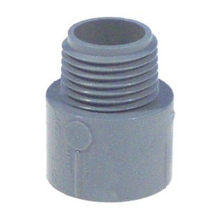 "Carlon Lamson & Sessons E943ER-CTN 3/4"" Non Metallic Male Terminal Adapter Slip To Thread"