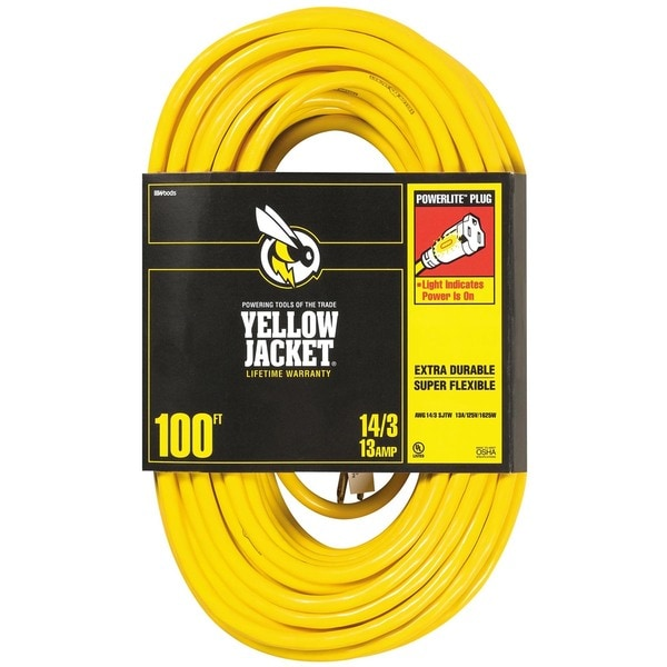 Yellow Jacket 02888 100' 14/3 Yellow Jacket Extension Cord