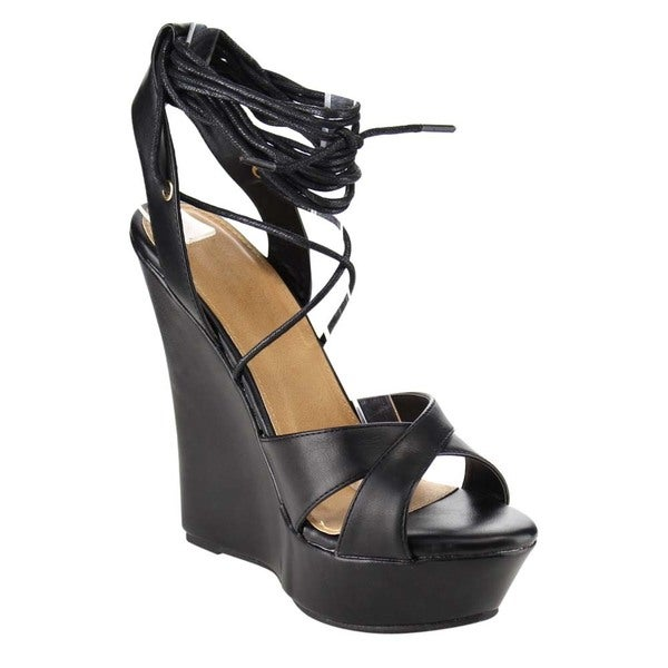 Beston Platform Wedge Sandals