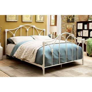 Furniture of America Camille Contemporary White Metal Platform Bed
