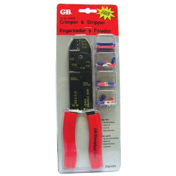 GB Gardner Bender GS-67K Terimal Crimping & Stripping Tool Kit