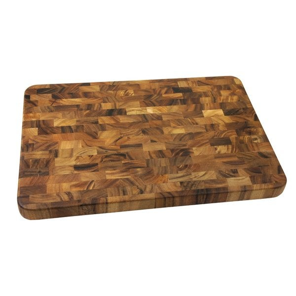 Ironwood Gourmet Brown Acacia Wood Large-end Grain Prep Station