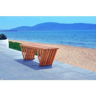 Eco-friendly 5-foot Outdoor Hardwood Garden Bench