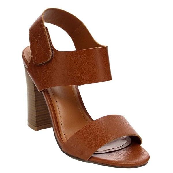 Beston Ankle Strap Chunky Heel Sandals