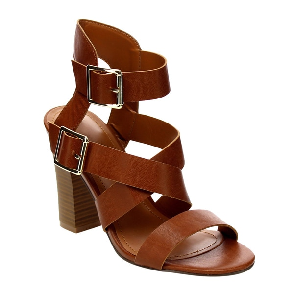 Beston Strappy Chunky Heel Sandals