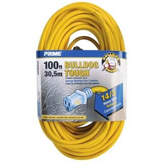 Prime LT511735 100' 14/3 SJTOW Yellow Bulldog Tough Extension Cord