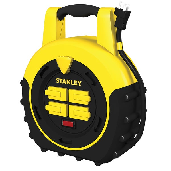 Stanley 33959 20' Four-Outlet Cord Reel Power Hub