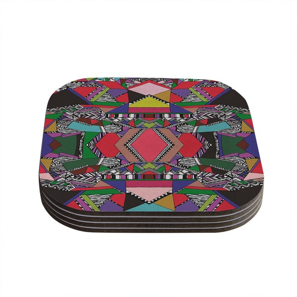 Vasare Nar 'African Motif' Coasters (Set of 4)