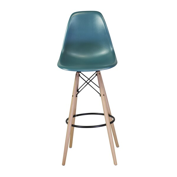 Counter Height Eames : ... Eames Chair Style DSW Molded Plastic Bar Stool Modern Barstool Counter