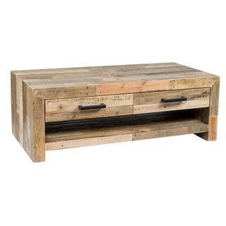 Kosas Home Oscar Natural Recovered Shipping Pallets 4-drawer Handcrafted Coffee Table