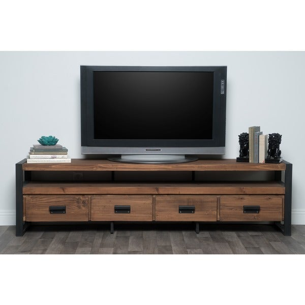Kosas Home Brenda Reclaimed Pine Mahogany 4-drawer TV Stand