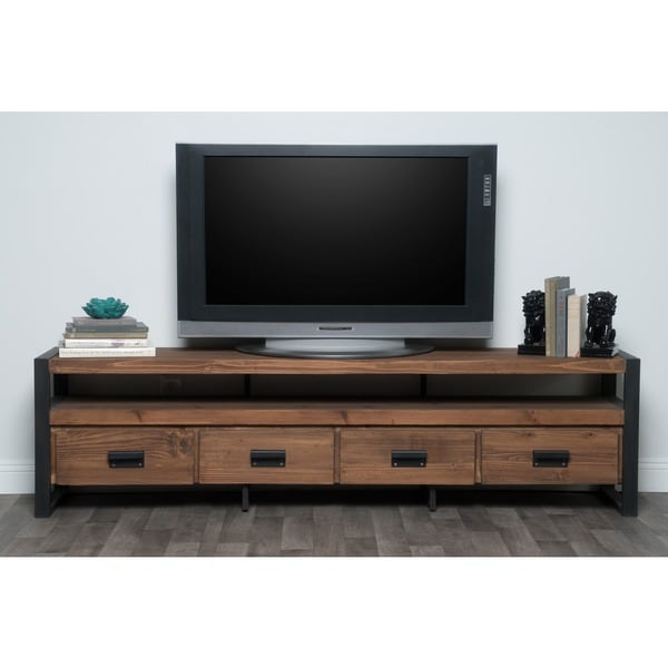 Kosas Home Brenda Reclaimed Pine Mahogany 4-drawer TV Stand