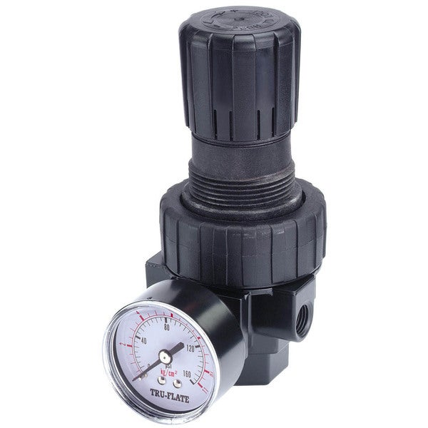 Tru Flate 24-414 3/8-inch NPTF Pressure Regulator With Gauge
