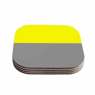 Trebam 'Polovina V.5' Yellow Gray Coasters (Set of 4)