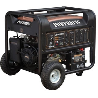 PowerKing Black Metal 8,000-watt Generator