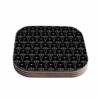 Tobe Fonseca 'Cats Cats Cats' Animals Black Coasters (Set of 4)