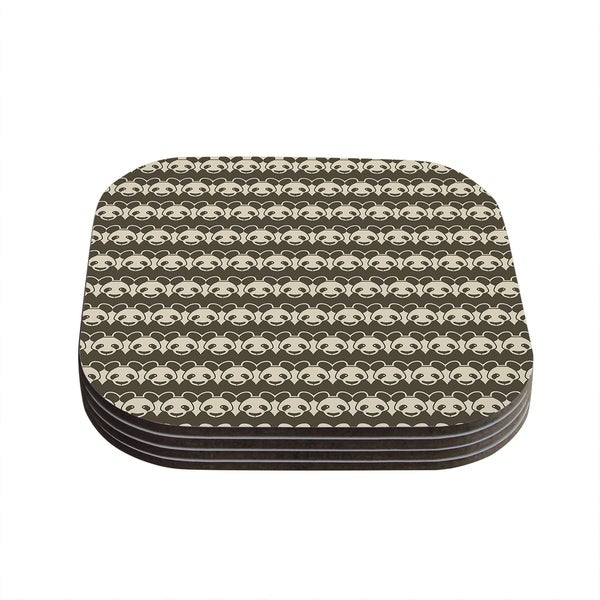 Tobe Fonseca 'Panddern' Panda Pattern Coasters (Set of 4)