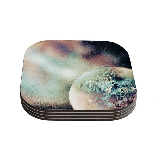 Infinite Spray Art 'Space Dust' Space Planet Coasters (Set of 4)