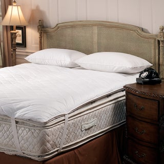 Trump Home Luxury Hypoallergenic Quilted Feather Bed with Anchor Straps