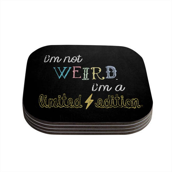 Skye Zambrana 'Weird' Coasters (Set of 4)
