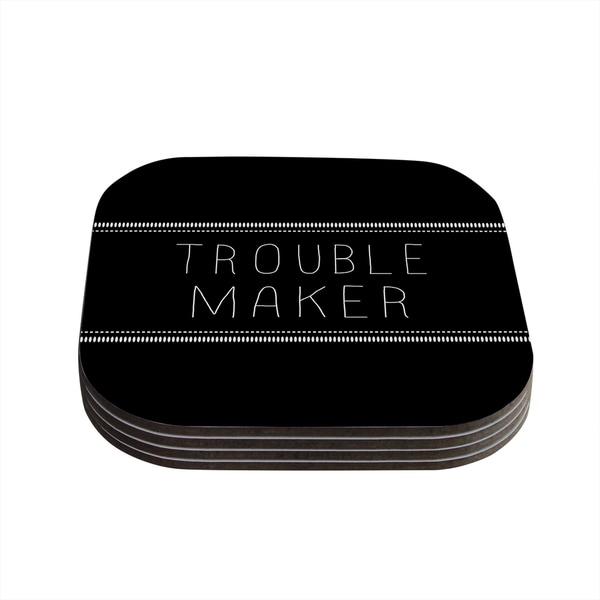 Skye Zambrana 'Trouble Maker' Coasters (Set of 4)