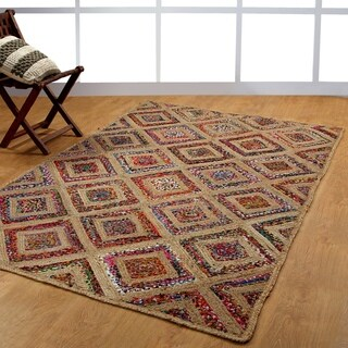 Jute/Cotton Braided Natural Fiber Handwoven Area Rug (8' x 10')