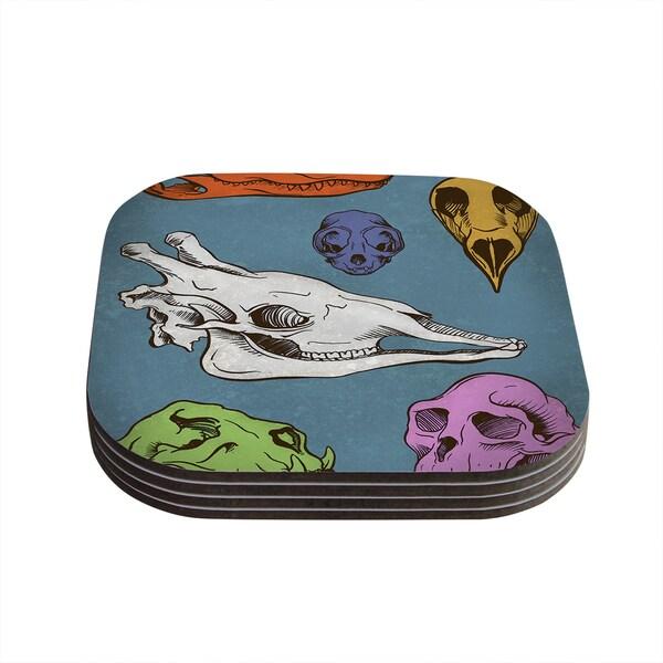Sophy Tuttle 'Skulls' Coasters (Set of 4)