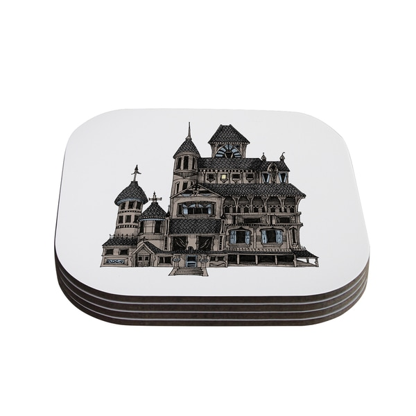 Sophy Tuttle 'House of Usher' Haunted Coasters (Set of 4)