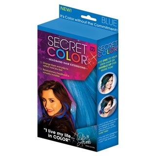Secret Color Blue Headband Hair Extensions