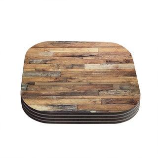 Susan Sanders 'Campfire Wood' Rustic Coasters (Set of 4)