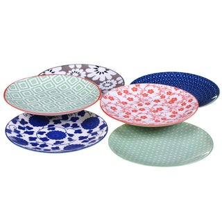 Certified International Mix & Match Soho Canape Plate (Set of 6)