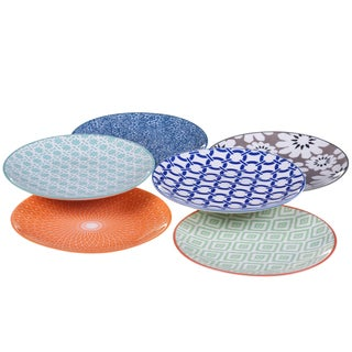 Certified International Mix & Match Chelsea Canape Plate (Set of 6)