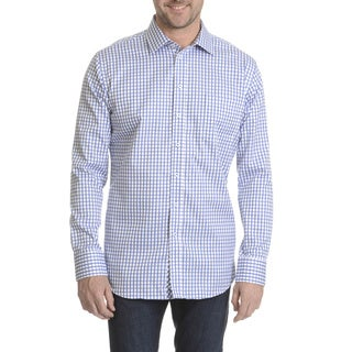Daniel Hechter Men's Checker-patterned Classic Fit Dress Shirt