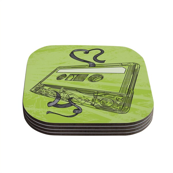 Sam Posnick 'Mixtape' Coasters (Set of 4)