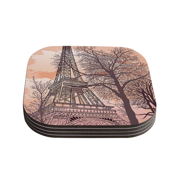 Sam Posnick 'Eiffel Tower' Coasters (Set of 4)