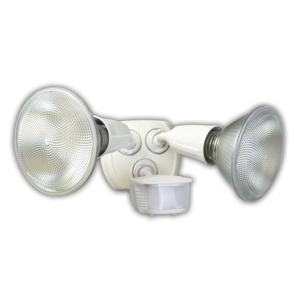 Coleman Cable L6003WH 180 Twin Head Motion Activated Security Flood Light