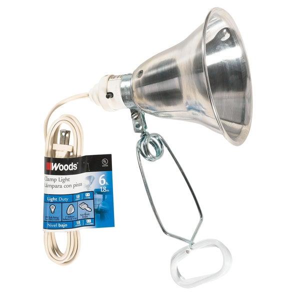 """Coleman Cable 00160 5.5"""" 60 Watt 6' 18/2 Gauge SPT 2 Lamp With Reflector"""