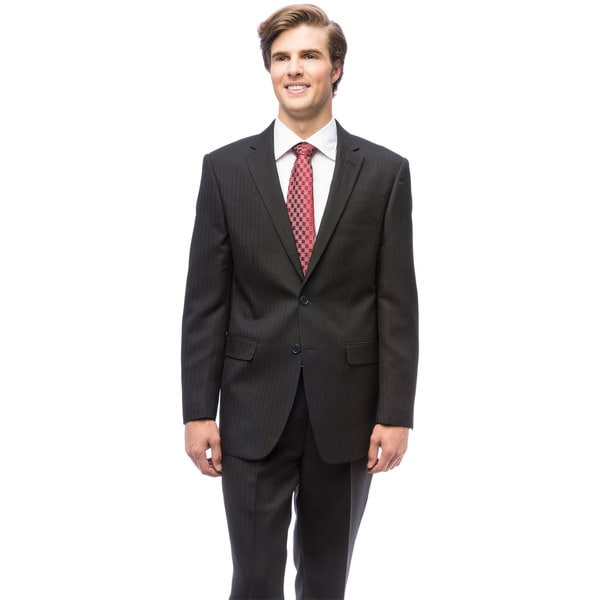 Men's Black Single-breasted Suit