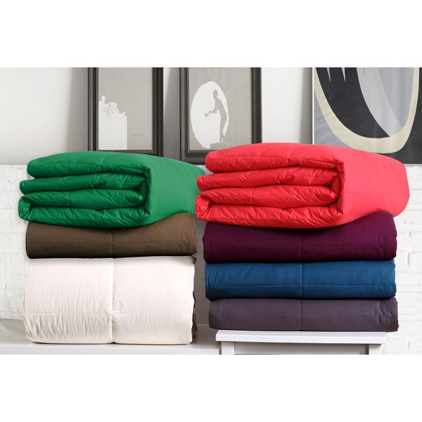VCNY Solid Color Cotton Down Comforter