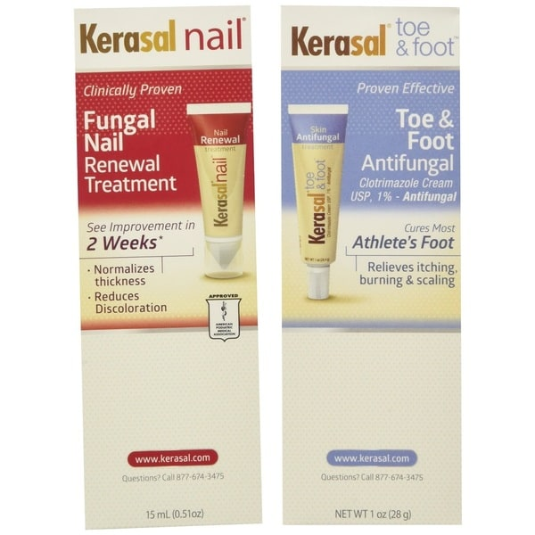 Kerasal Complete Care 2-in-1 Nail, Toe, and Foot Anti-fungal Treatment Cream