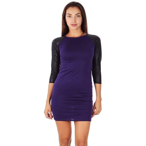 Slim Fitted Dress Purple